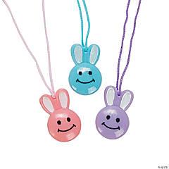 Vinyl Smile Face Bunny Necklaces