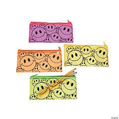 Vinyl Smile Face Pencil Cases