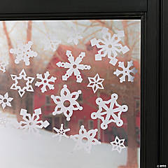 Vinyl Snowflake Window Clings