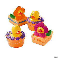 Vinyl Spring Flower Rubber Duckies