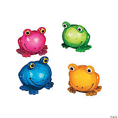 Vinyl Squeezable Sticky Frogs