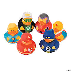 Vinyl Superhero Rubber Duckies
