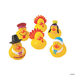 Vinyl Thanksgiving Rubber Duckies
