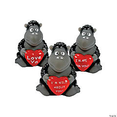 Vinyl Valentine Gorillas with Hearts