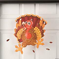 Vinyl Wacky Turkey Window Cling