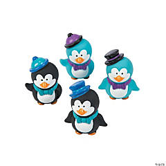 Vinyl Winter Penguin Characters