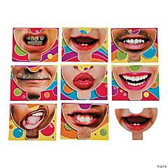 Wacky Face Selfie Masks Valentine's Day Cards