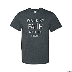 Walk By Faith Adult's T-Shirt - Large