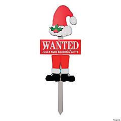 Wanted Santa Christmas Yard Stakes