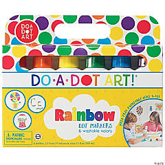 Washable Rainbow Dot Markers, 6 Colors