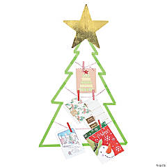 Washi Tape Christmas Tree Card Holder Décor Idea