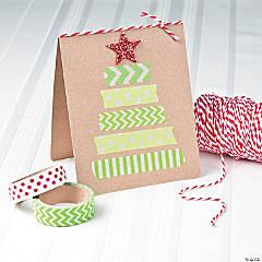 Washi Tape Christmas Tree Card Idea
