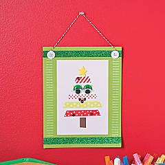 Washi Tape Christmas Tree Sign Idea