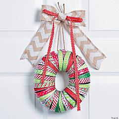 Washi Tape Mason Jar Lid Christmas Wreath Décor Idea