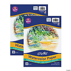 Watercolor Paper, White, Package, 140 lb., 9