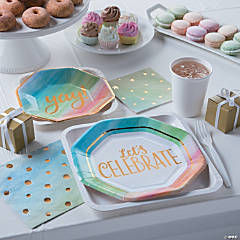 Watercolor Rainbow Party Supplies