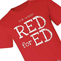 We Wear Red for Ed Adult's T-Shirt - Large