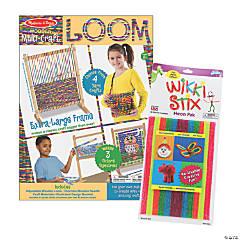 Weaving & Wax Sticks Arts & Crafts Boredom Buster Kit