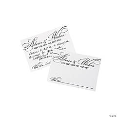 Wedding Advice Cards