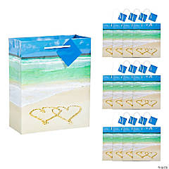 Wedding Beach Gift Bags with Tags