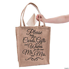 Wedding Card Burlap Bag