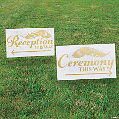 Wedding Directional Double-Sided Sign Set