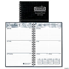 Weekly Academic Assignment Book Planner Black 5 x 8 Inches - Set of 3 planners