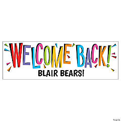 Welcome Back Custom Banner - Large