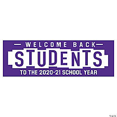 Welcome Back Students Custom Banner - Large