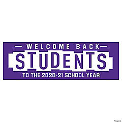 Welcome Back Students Custom Banner - Medium