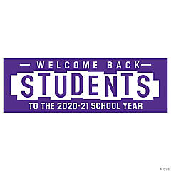 Welcome Back Students Custom Banner - Small