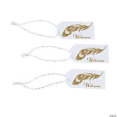 Welcome Peacock Favor Tags