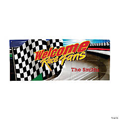 """Welcome Race Fans"" Personalized Banner"