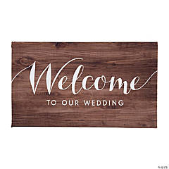 Welcome to Our Wedding Canvas Sign