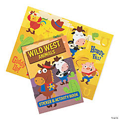 Western Animal Activity Book with Stickers