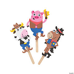 Western Characters Craft Stick Craft Kit