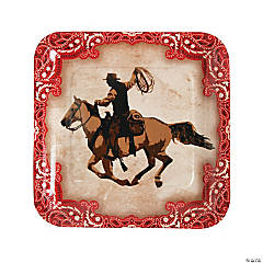 Western Paper Dinner Plates - 8 Ct.