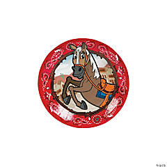 Western Party Paper Dessert Plates - 8 Ct.