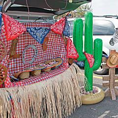 Western Trunk or Treat Car Decorations Idea