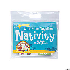 What Goes Together Nativity Matching Puzzles