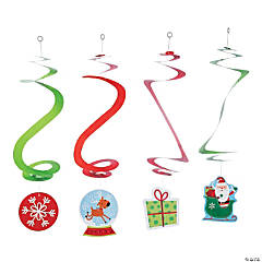 whimsical christmas hanging swirls
