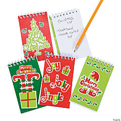 Whimsical Christmas Spiral Notepads