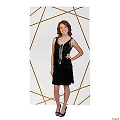White & Gold Backdrop Panel Stand-Up