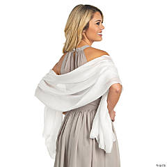 White Bridesmaid Shawl Wraps
