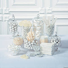 White Candy Buffet Supplies