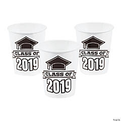 White Class of 2019 Cups
