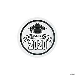 White Class of 2020 Paper Dessert Plates - 25 Ct.