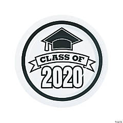 White Class of 2020 Paper Dinner Plates - 25 Ct.