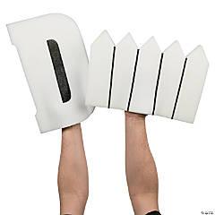 White D Fence Foam Hands