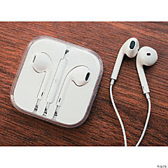 White Earbuds with Microphone